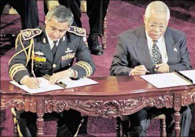 Firma de la paz, Otto Pérez Molina