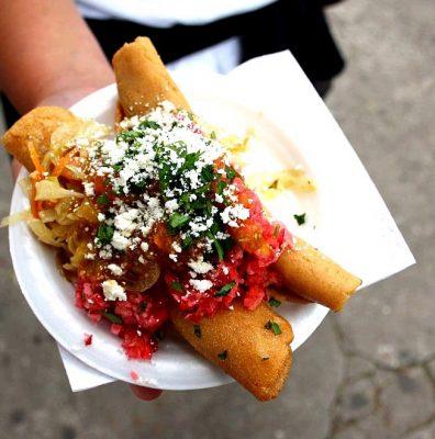 Ingredientes para hacer Tacos de papa