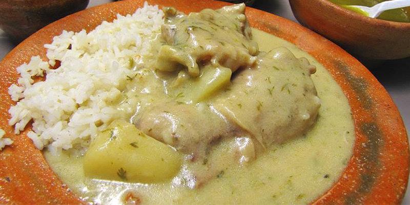 Receta de pollo en crema y loroco guatemalteco