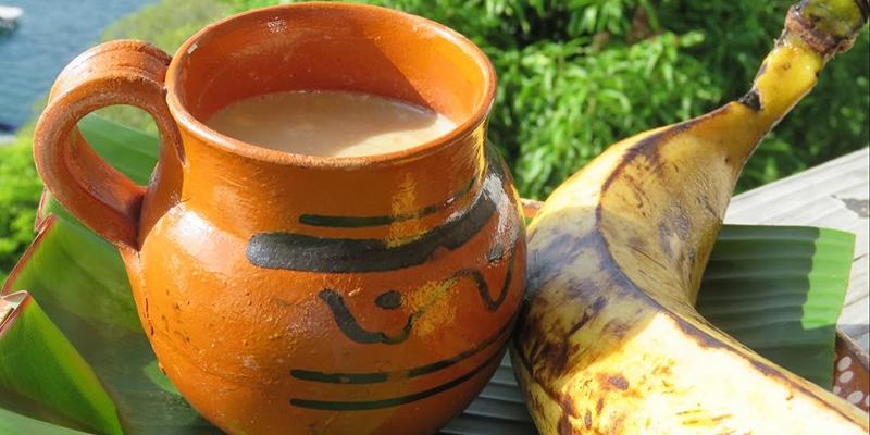 Receta de atol de plátano guatemalteco