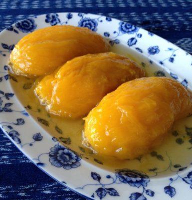 Receta de los mangos en miel