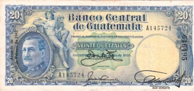 Billete General José María Orellana