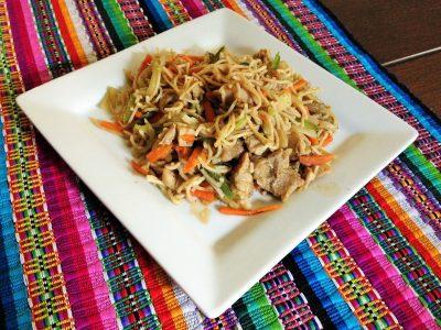 Ingredientes para hacer Chow Mein