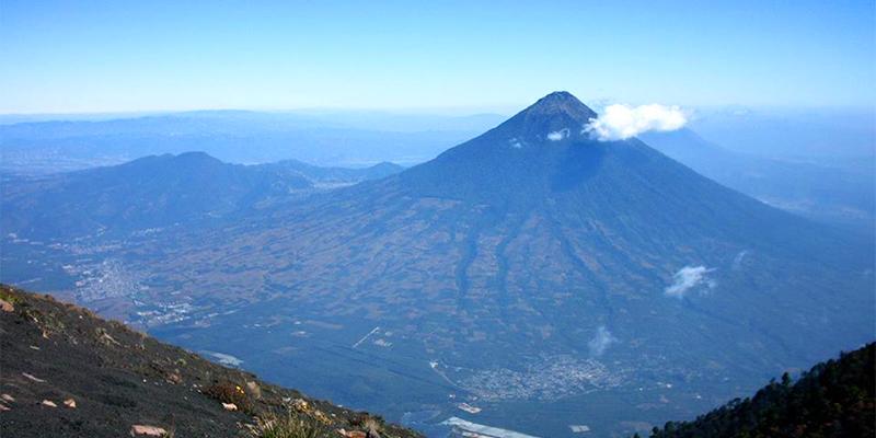 Volcán Acatenango en Guatemala