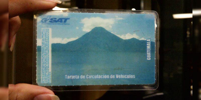 reposicion de tarjeta de circulacion guatemala