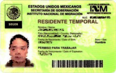 residencia temporal mexicana