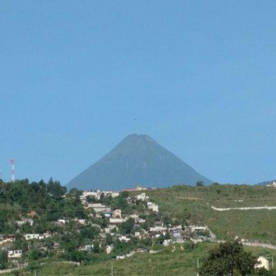 volcán de agua visto desde villa nueva