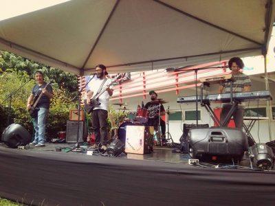 Integrantes de la banda de rock Oricalkos