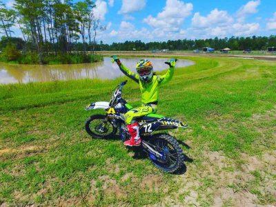 Piloto de motocross Vicko Castillo