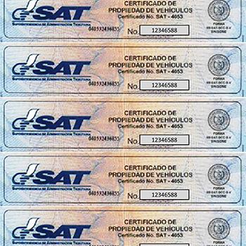 Reposición de certificado de propiedad de vehículo con formulario electrónico