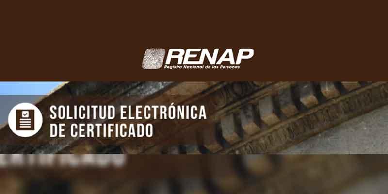 certificaciones electrónicas del renap