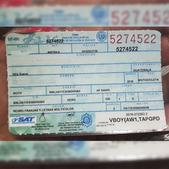 Reposición de tarjeta de circulación con formulario electrónico