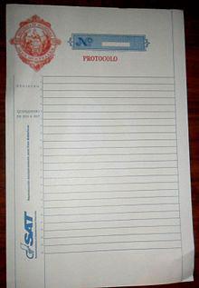 papel protocolo sat