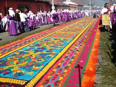 Alfombras en Semana Santa, Guatemala