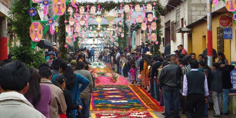 Celebración de Corpus Christi en Patzún, Chimaltenango