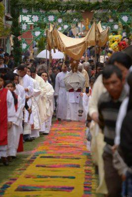 Celebración de Corpus Christi en Patzún, Guatemala