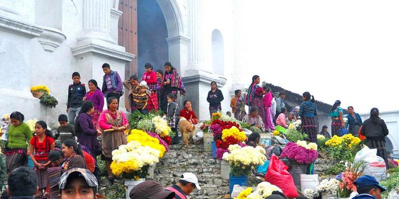 Los Días de Mercado en Chichicastenango