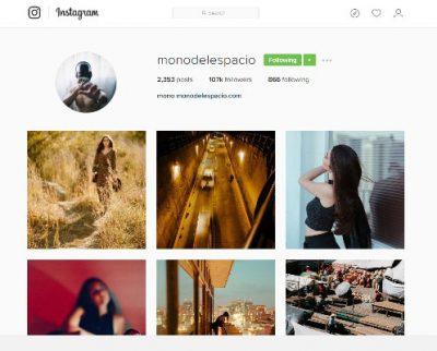 Mono del Espacio en Instagram