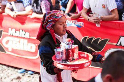 Participantes de la Carrera de Charolas en Antigua Guatemala