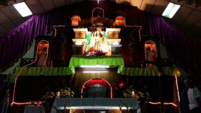 altar a la virgen de candelaria en teculutan