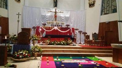 altar de la iglesia de villa canales