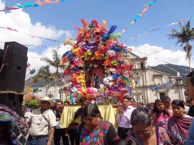 procesión de san francisco de asís en panajachel