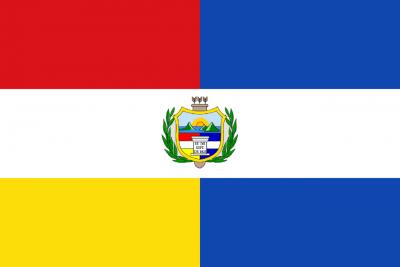 Bandera y escudo de la República de Guatemala (1851-1858)