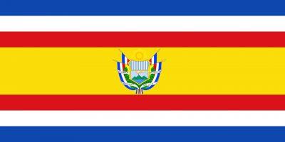 Bandera y escudo de la República de Guatemala 1858-1871