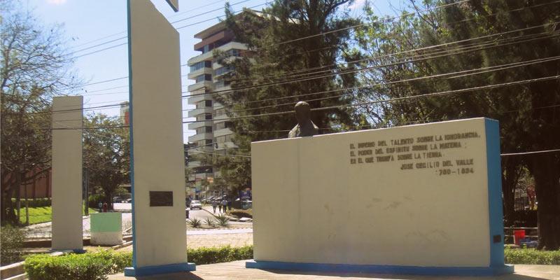 Busto a José Cecilio del Valle en Guatemala