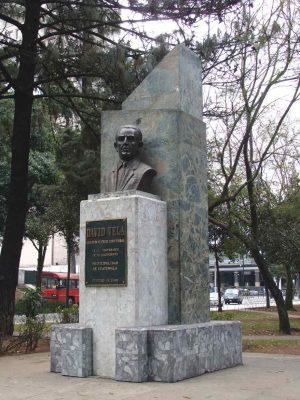 Busto del escritor guatemalteco David Vela en Guatemala