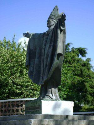 Dónde está ubicado el monumento a Juan Pablo II en Guatemala