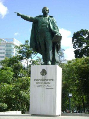 Dónde queda el monumento a Benito Juárez en Guatemala