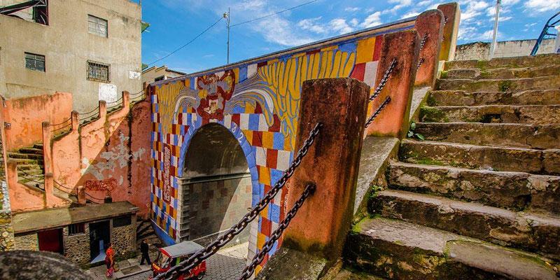 El Arco Gucumatz en Chichicastenango