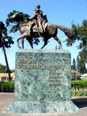 El monumento de Simón Bolivar en Guatemala