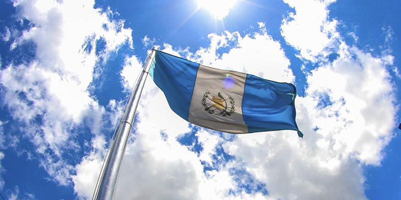 La bandera, símbolo patrio de Guatemala