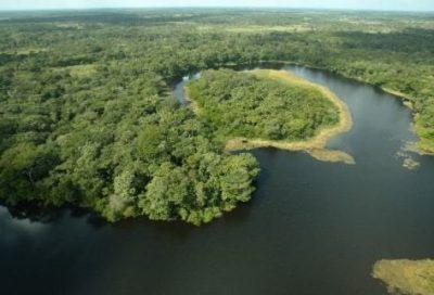 Laguna del Tigre en el departamento de Petén