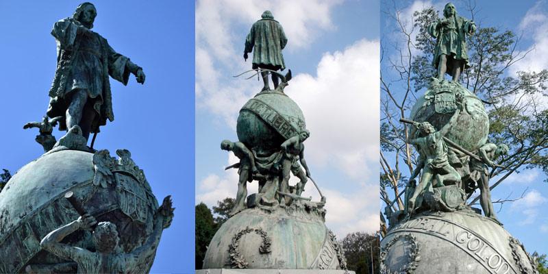 Monumento a Cristóbal Colón en Guatemala