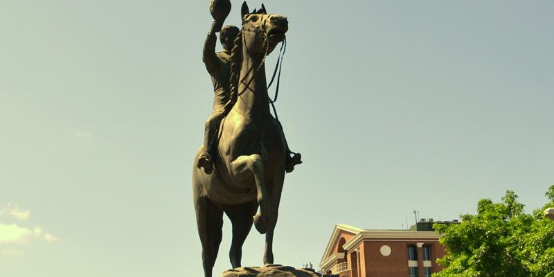 Monumento a Reyna Barrios en Guatemala