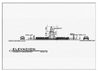 Planos del Monumento a Lorenzo Montúfar y Rivera