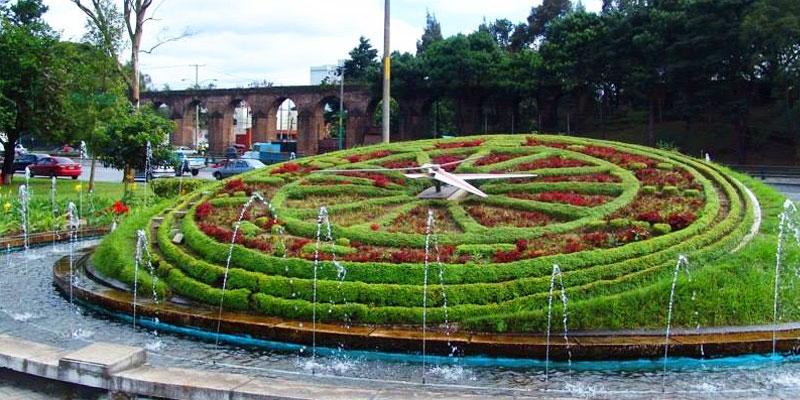 Reloj de Flores en la Ciudad de Guatemala