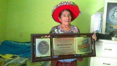 Rostro de la moneda de 25 centavos de Guatemala