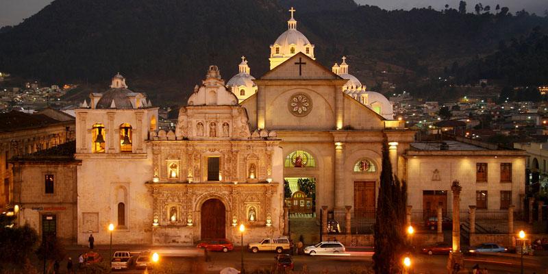 catedral de la ciudad de quetzaltenango