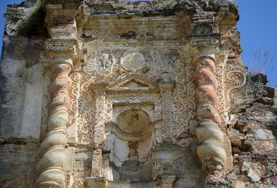 detalles de la iglesia de candelaria en antigua guatemala