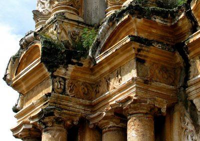 detalles de las columnas de las ruinas del carmen