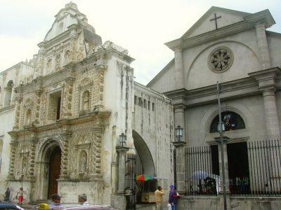 fachada de la iglesia de quetzaltenango