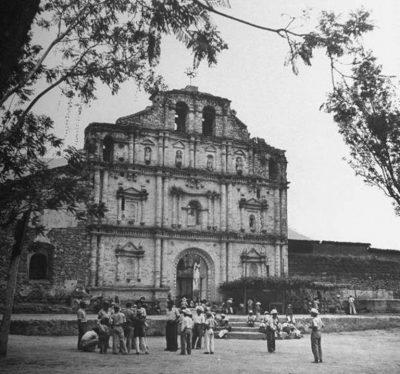 iglesia de panajachel en la antiguedad