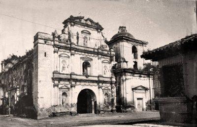 iglesia de san agustin de antigua guatemala en la antiguedad