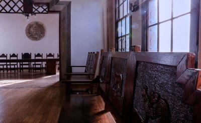 interior del palacio maya