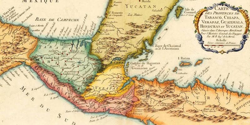 Cambios en el mapa de Guatemala a través del tiempo