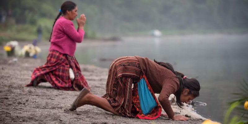 Lugar sagrado Laguna de Chicabal Quetzaltenango